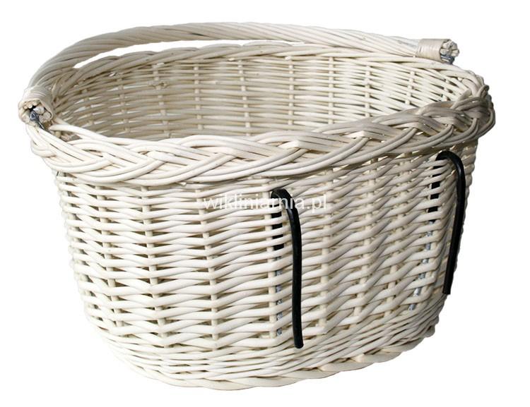 a42e14c73aa380 Koszyk na rower biały S 37x28(30)x22(36) wiklinowy /70186/. Cena: 55 ...
